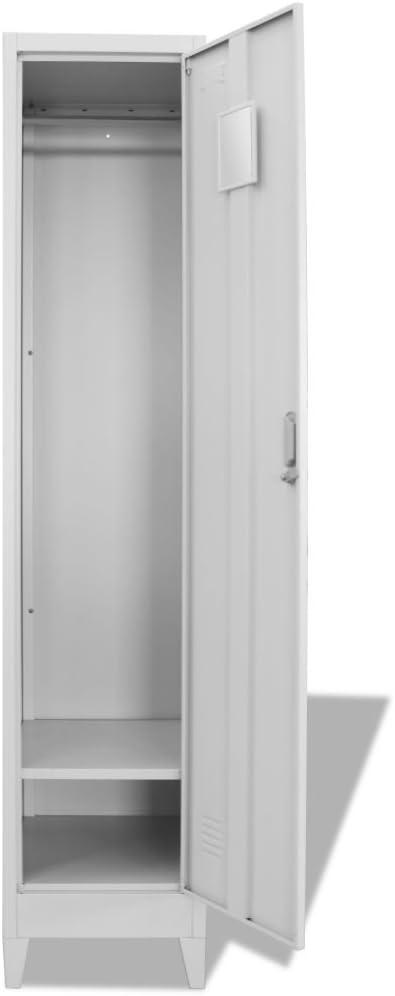 armadietto metallico per spogliatoio misura unica vidaXL 244472 in acciaio