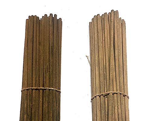 INA KI Hand Made Incense Sticks Premium 2 Fragrance Infused with Essential Oils Pack 100gm Each - Natural Long Lasting (200 Gram Pack). Sandalwood & Marvel