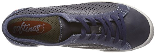 Softinos Ica388sof Smooth/Suede, Sneaker Donna Blau (Navy/Dk.grey)