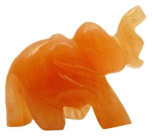 orange calcite wand - 3