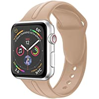 Harpi 2018New Fashion Single Stripe Silicone Bracelet Watchband Fit Apple Watch 4 40mm/44mm Wristband Strap Replacement