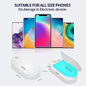 UV Phone Sanitizer Box | UV Light Sanitizer Box | Portable UVC Lamp Phone Sanitizer with USB Charging or Battery Powered…