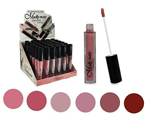 Set of 6 Colors Madly MATTE Lipgloss Bold & Vivid Color Matte Lipgloss Set #1