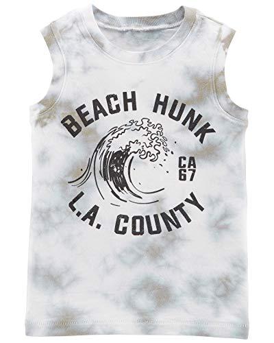 Carter's Boys' Jersey Tank Top (4T, Grey/Beach Hunk)