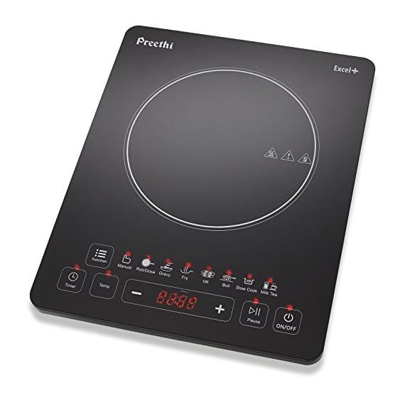 Preethi Excel Plus 117 1600-Watt Induction Cooktop (Black) 1
