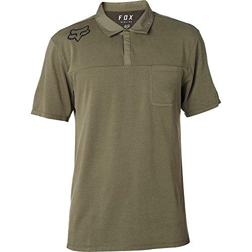 Fox Racing Men's Redplate 360 Tech Polo Polo Shirts,Large,Fatigue Green (Racing Polo Mens)
