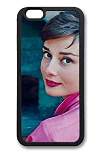 TPU Black Color Case For iPhone 6 Soft And Nice Design iPhone Case Latest style Case Suit iPhone 6 4.7 Inch Ultra-thin Case Easy To Operate Audrey Hepburn 25