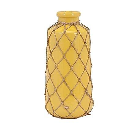 Imax Jute Yellow Vase Yellow Large Amazon Kitchen Home