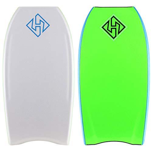 Hubboards Hubb PE Deluxe CT 41.5 Bodyboard - White - Aqua - Lime Green
