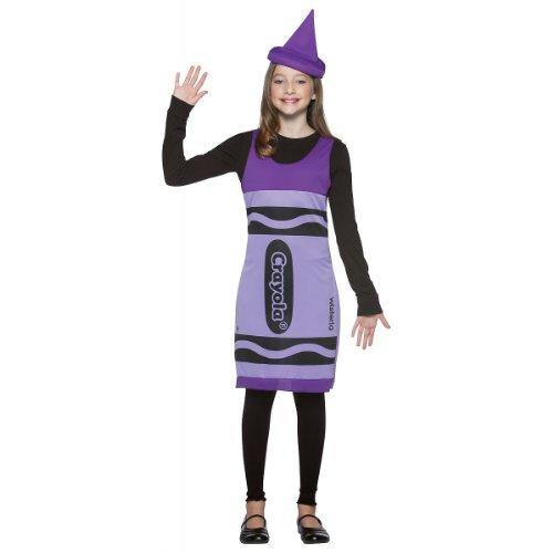 Tween Wisteria Crayon Dress (Crayola Crayon Tank Dress Tween Costume Wisteria Purple - Preteen/Tween)