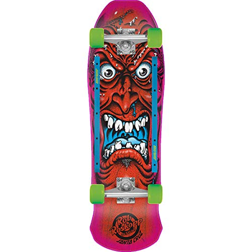 Santa Cruz Roskopp Face 80s Cruzer Complete Skateboard,Multicolored,9.5