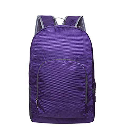 JITALFASH Outdoor Portable Foldable School backpack ultra light Travel Bagpack Waterproof Nylon purple onesize
