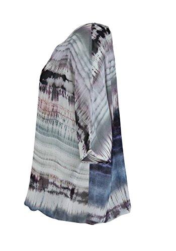 HERRLICHER Kurzarm Blusenshirt DELPHINE Rundhals Muster Multicolor