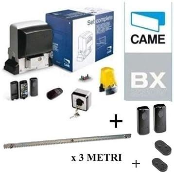 Came 001U2313 + 001DIR10 - Kit de automatización para puertas correderas (800 kg, incluye un par de fotocélulas y una barra de 3 m): Amazon.es: Bricolaje y herramientas
