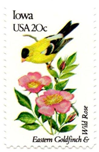 Iowa Stamps (USA Postage Stamp Single 1982 Iowa State Bird And Flower Issue 20 Cent Scott #1967)