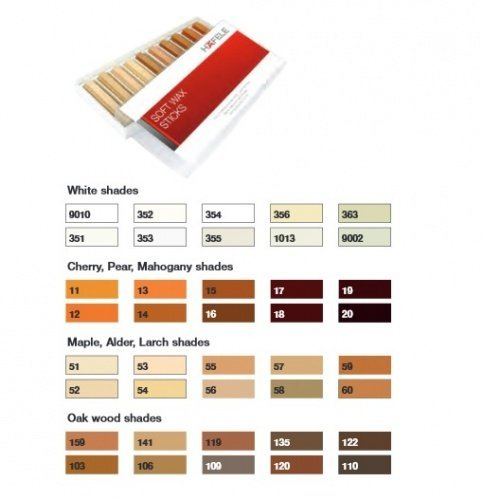 hafele-soft-wax-stick-assortment-wood-filler-pack-of-10-white-shades-colours