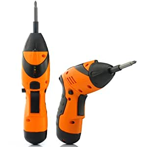 2-in-1 Cordless Adjustable Electric Drill and Screwdriver - Set of 45 Drills and Screw Heads, Rechargeable Battery