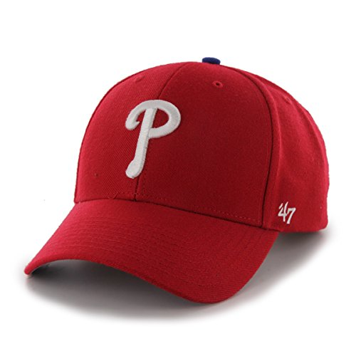 '47 MLB Philadelphia Phillies Juke MVP Adjustable Hat, One Size, Red