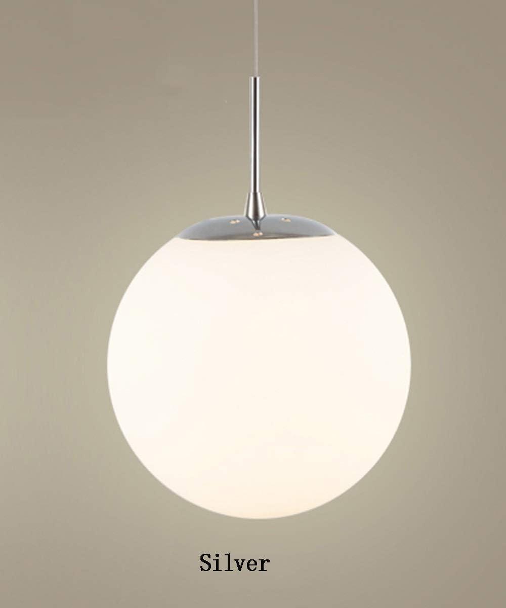Mzhch lamp 5 lumi/ères 6 Lumi/ères Nordic Chambre Lustre en Verre Boule De Lustre for Salon Moderne Minimaliste Escalier Lustre Creative Personnalit/é Restaurant Lampe Blanc en Verre