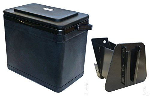 RHOX Insulated Large Capacity 11.75 Quart Cooler for Club Car DS Driver Side Mount