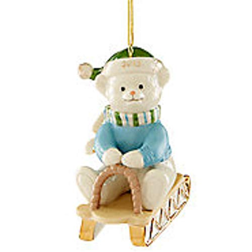 Lenox ~ 2019 Teddy Bear Sledding Ornament