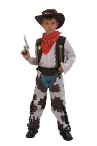 Boys Fancy Dress Costume Cowboy Medium Wild West -