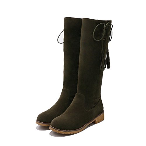 Boots amp;N Lining Green Adjustable Toe Closed Urethane Road Rubber Toe Heel Boots Womens Closure Pointed Warm DKU01895 No A No AN Strap Manmade Urethane 1gOxq5wSx