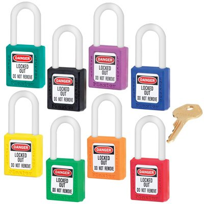Xenoy Master LockTM Padlock - Color Coded, Orange - Keyed-Alike: 1-1/2