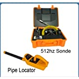 KOHSTAR 50m meter counter underground pipe inspection camera color monitor equipement with 512Hz sonde transmitter locator