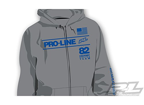 Pro-Line Factory Team grau Zip-Up Hoodie XL