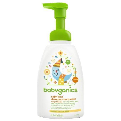 Babyganics Night Time Shampoo + Body Wash, Natural Orange Blossom 16 fl oz (473 ml)