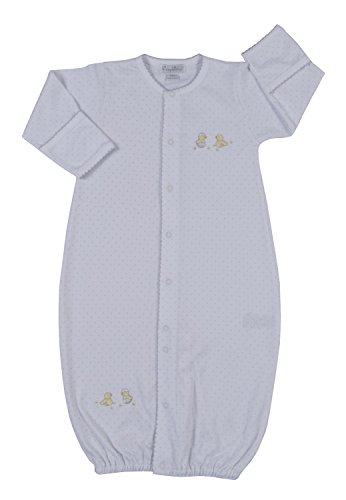 Kissy Kissy Unisex-Baby Infant Hatchlings Convertible Gown-White with Silver-Newborn by Kissy Kissy
