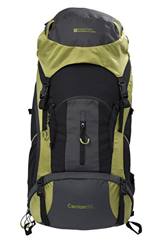 Mountain Warehouse Carrion 65L Rucksack – Soft Travel Backpack