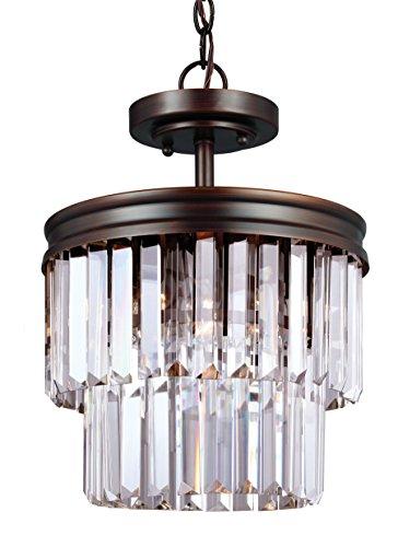 Sea Gull Lighting 7714002-710 Two 7714002-710-Two Light Flush Mount Burnt ()