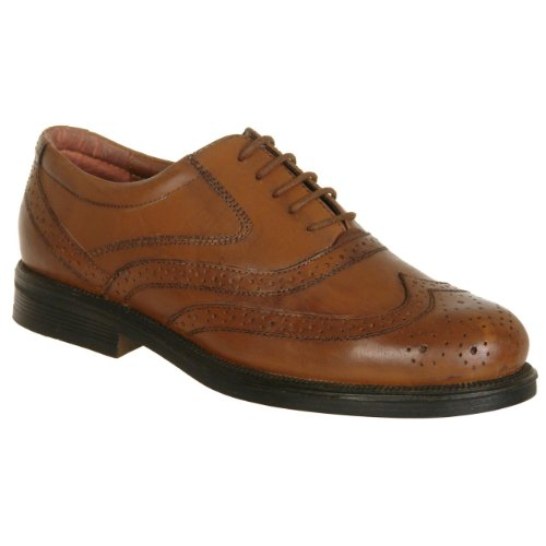 Brown ampia mens scarpe Formal Scimitar Brogue Lace Fit Up 1wgRP8
