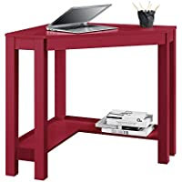 Ameriwood Home Parsons Corner Desk, Red