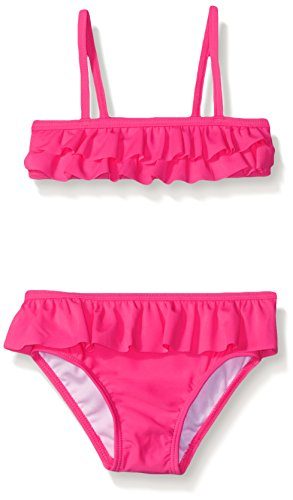 The Children's Place Little Girls and Toddler Ruffle Bikini, Neon Berry, 3T