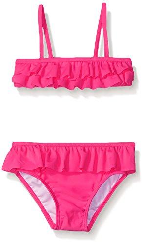 The Children's Place Little Girls and Toddler Ruffle Bikini, Neon Berry, 5T