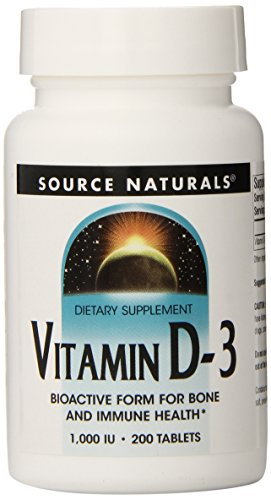 Vitamin D3 1000 IU Source Naturals, Inc. 200 Tabs