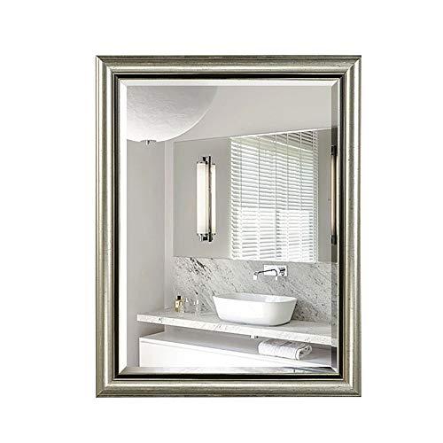 Bathroom mirror Mirror, Simple American Retro Makeup Mirror Old European Bathroom Cabinet Mirror Wall Hanging Bathroom with Frame Mirror Entrance Mirror (Color : C, Size : 6080cm) ()