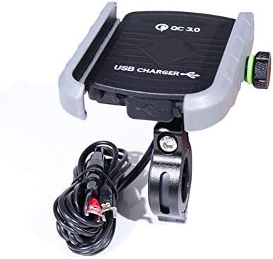 WINBST Soporte para teléfono para Motocicleta Cargador de USB QC ...