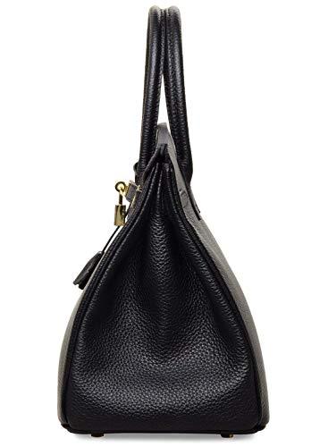 Erin In Black Pelle ® Vera Con Lucchetto Getthatbag Hardware Borse Dorato wPnO0k