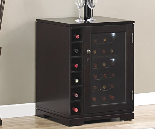 Bell'O DC9416X292-1818 Cabernet Dual Zone Wine Cooler with Side Cubby Storage, Coventry Cherry
