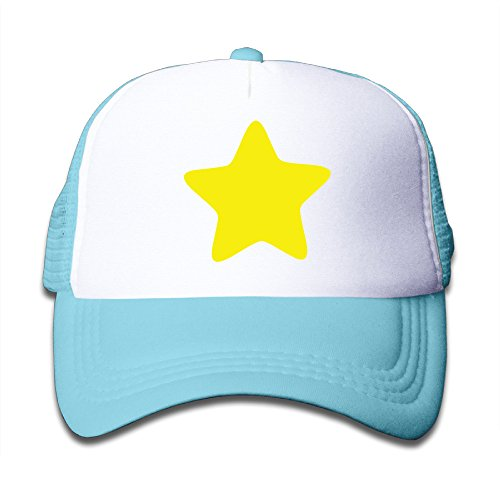 Star Awards Logo Crystal (Macthy Steven Universe Yellow Star Logo Boy's Mesh Snapback Hat Cap SkyBlue)