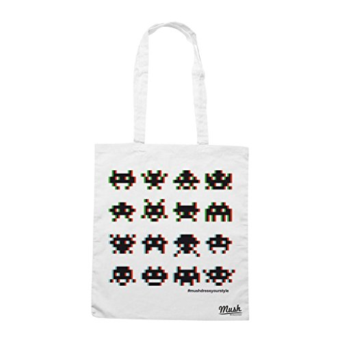 Borsa ALIEN INVASION GAME - Bianca - GAMES by Mush Dress Your Style