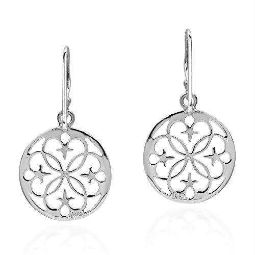 celtico di fiore argento stellato vita con in Orecchini sterling zqO0F