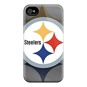 Perfect Hard Phone Case For Iphone 4/4s With Support Your Personal Customized HD Pittsburgh Steelers Skin JonBradica