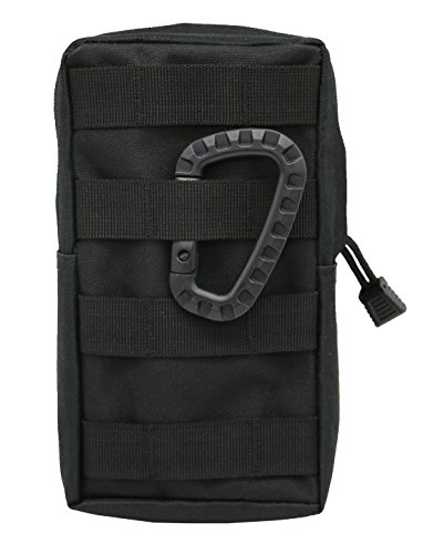 LefRight Black Tactical Molle Accessory EDC Pocket Pouch Sundries Waist Bag with Belt Loop + (Acu Chest Rigs)