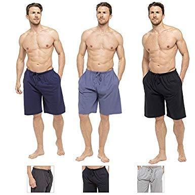 100/% cotone Pantaloni Loungewear da uomo Comfort con fondo risvoltato o pantaloncini da salotto comodi e comodi Pantaloni da notte morbidi XL, blue /& black Regalo perfetto per lui