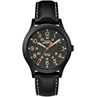 Unisex TW4B11200 Expedition Scout 36 Black Leather Strap Watch